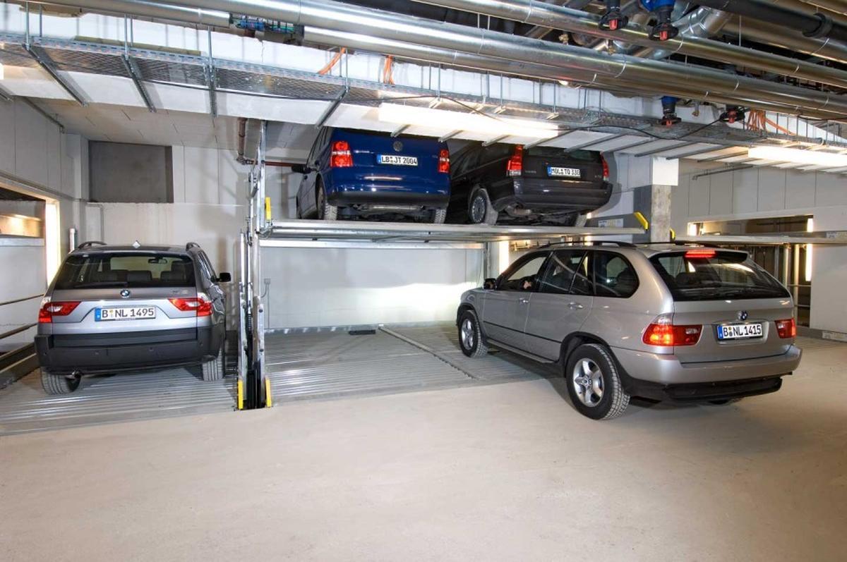 Parcheggio meccanizzato con fossa
