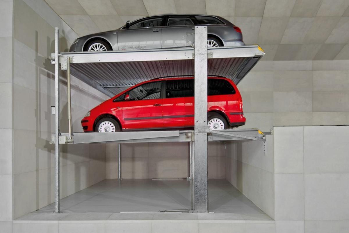 parcheggio meccanizzato regolabile