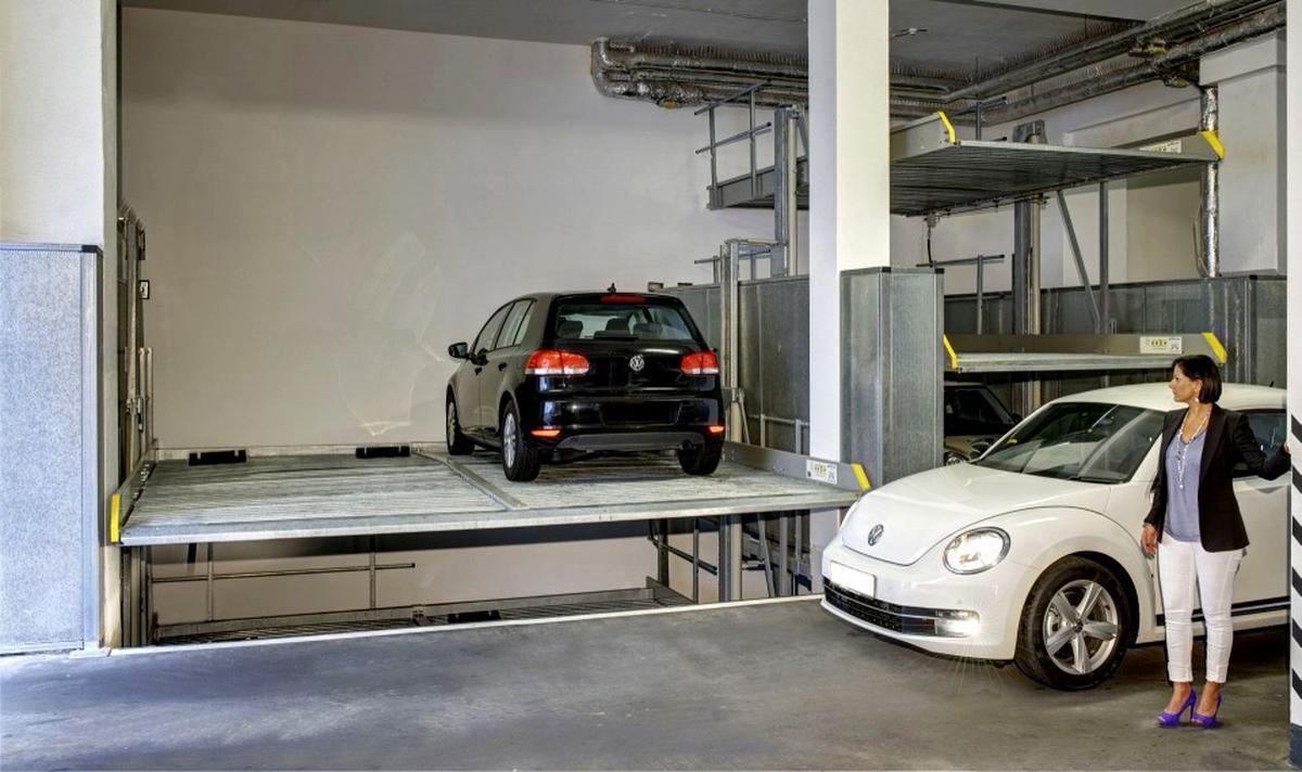 parcheggio meccanico con fossa