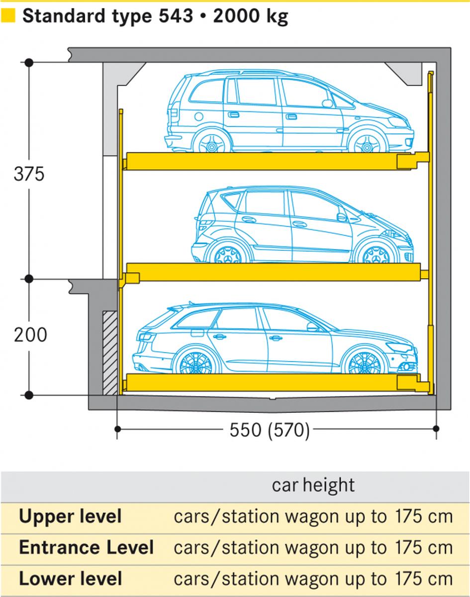 parcheggio semiautomatico Combilift 543