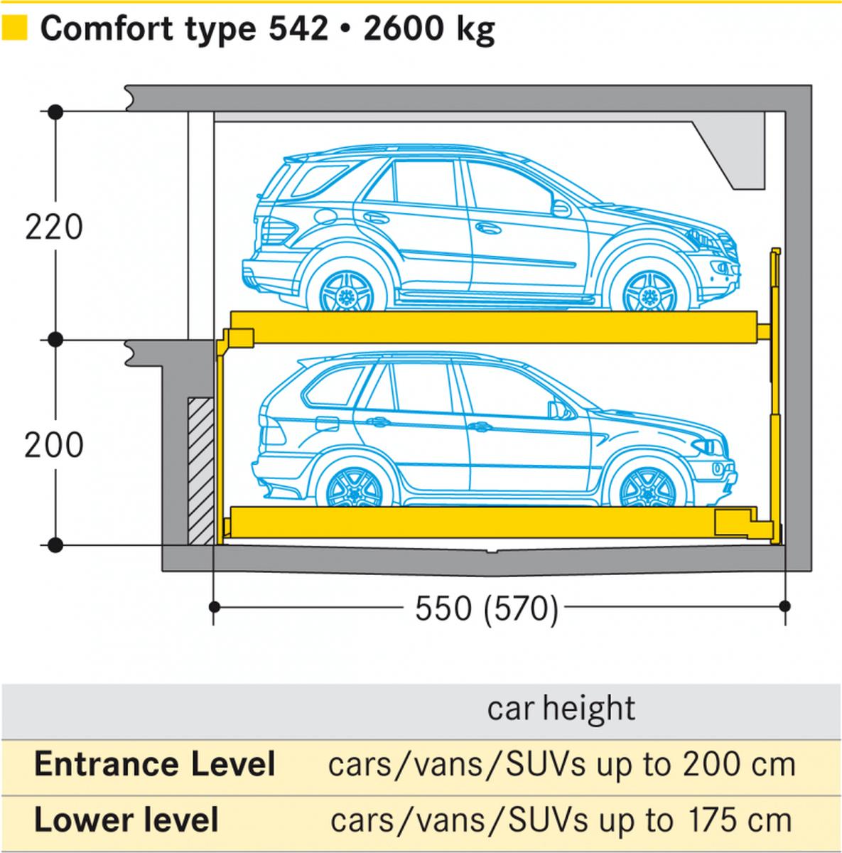sistema di parcheggio Combilift 542