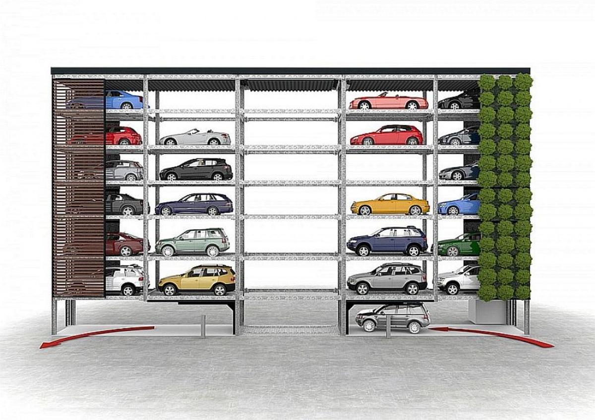 impianto di parcheggio automatizzato Slimparker