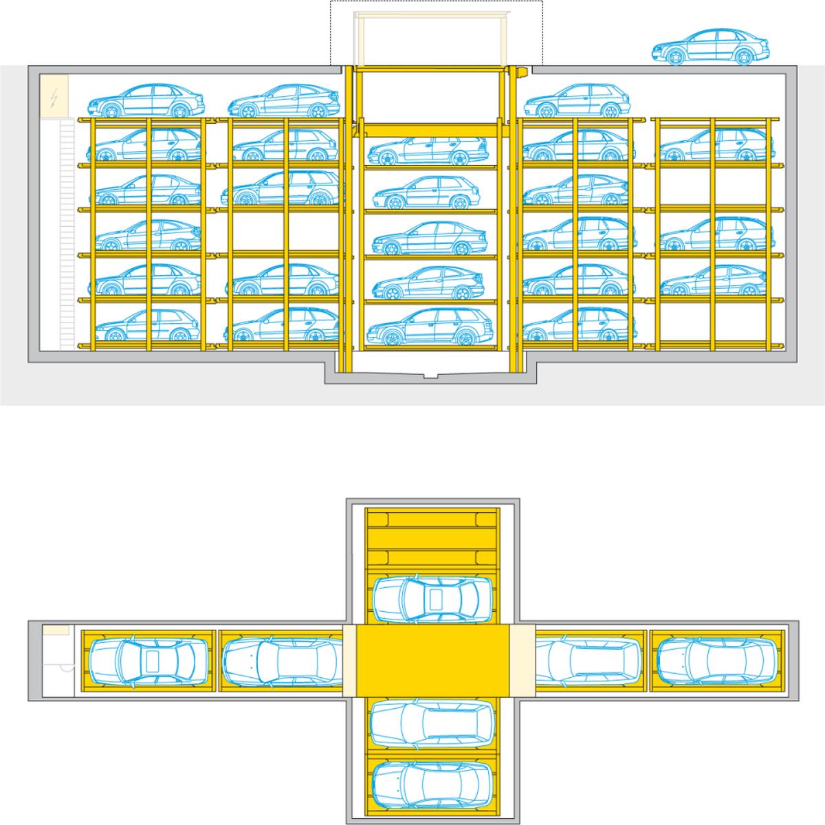 impianto di parcheggio automatico Crossparker 558