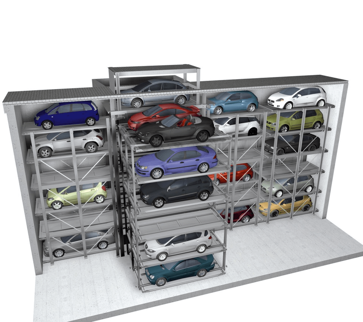impianto di parcheggio automatico Crossparker