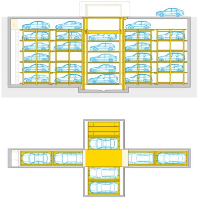 Crossparker 558  - parcheggio automatico a scomparsa
