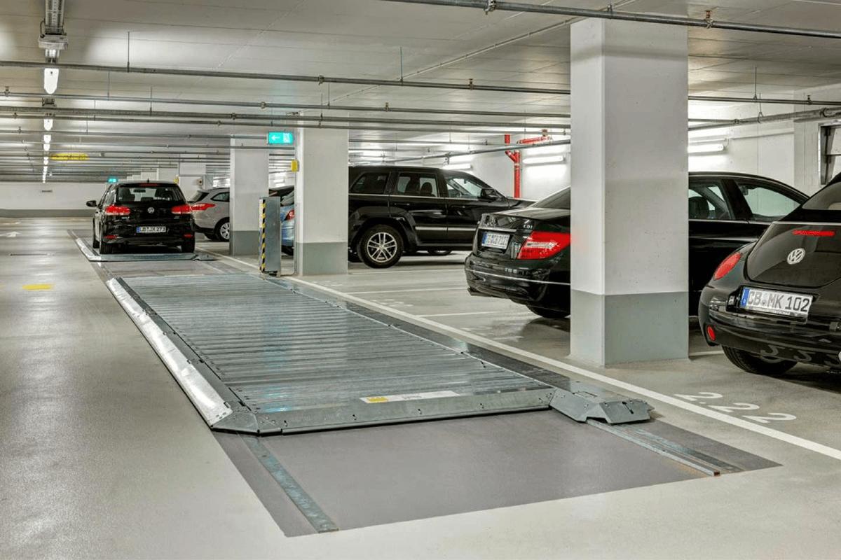 pedana traslante di parcheggio