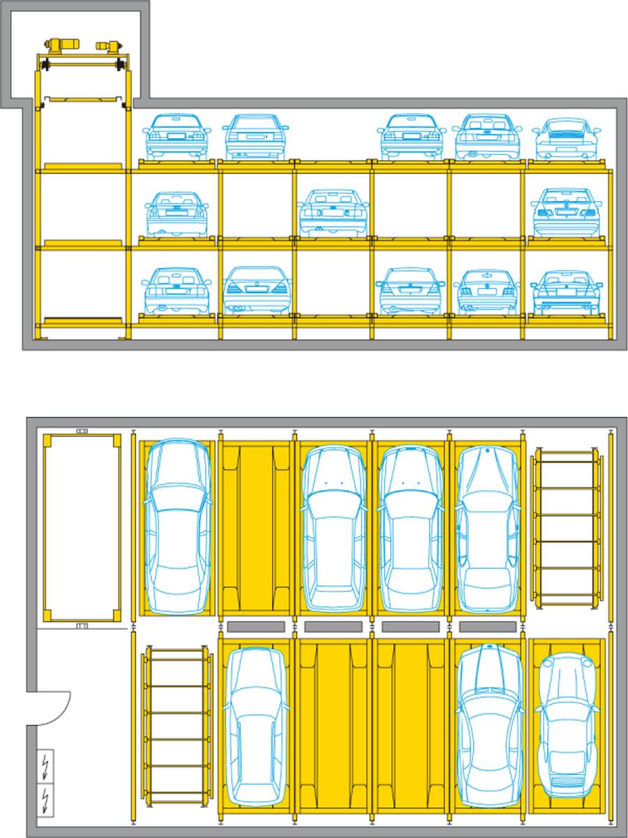 Sistema di parcheggio automatico Levelparker 570