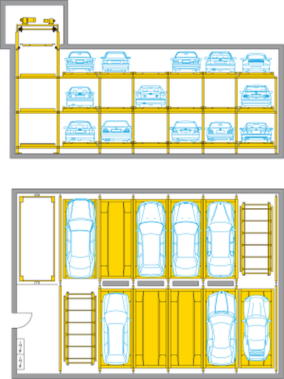 Levelparker 570 - parcheggio a funzionamento automatico