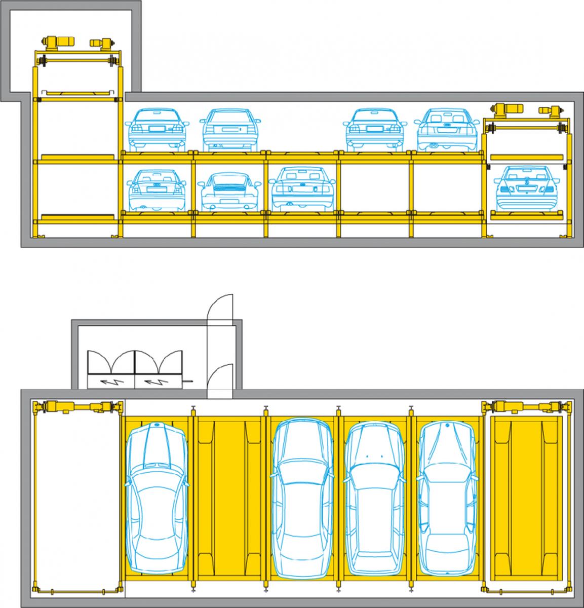 Sistema di parcheggio automatizzato Levelparker 590
