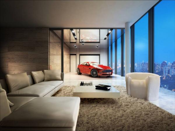 Nello skyline di Hamilton Scotts le supercars si parcheggiano in salotto