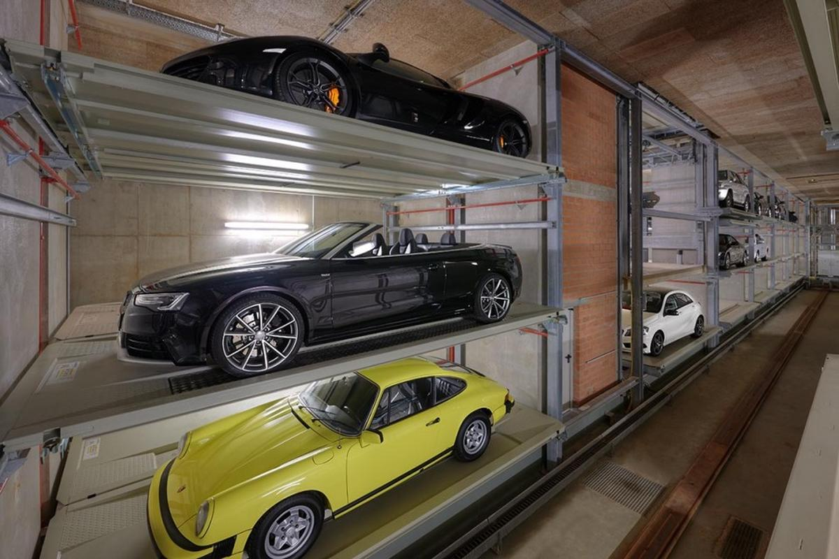 interno del parcheggio automatizzato Multiparker 740