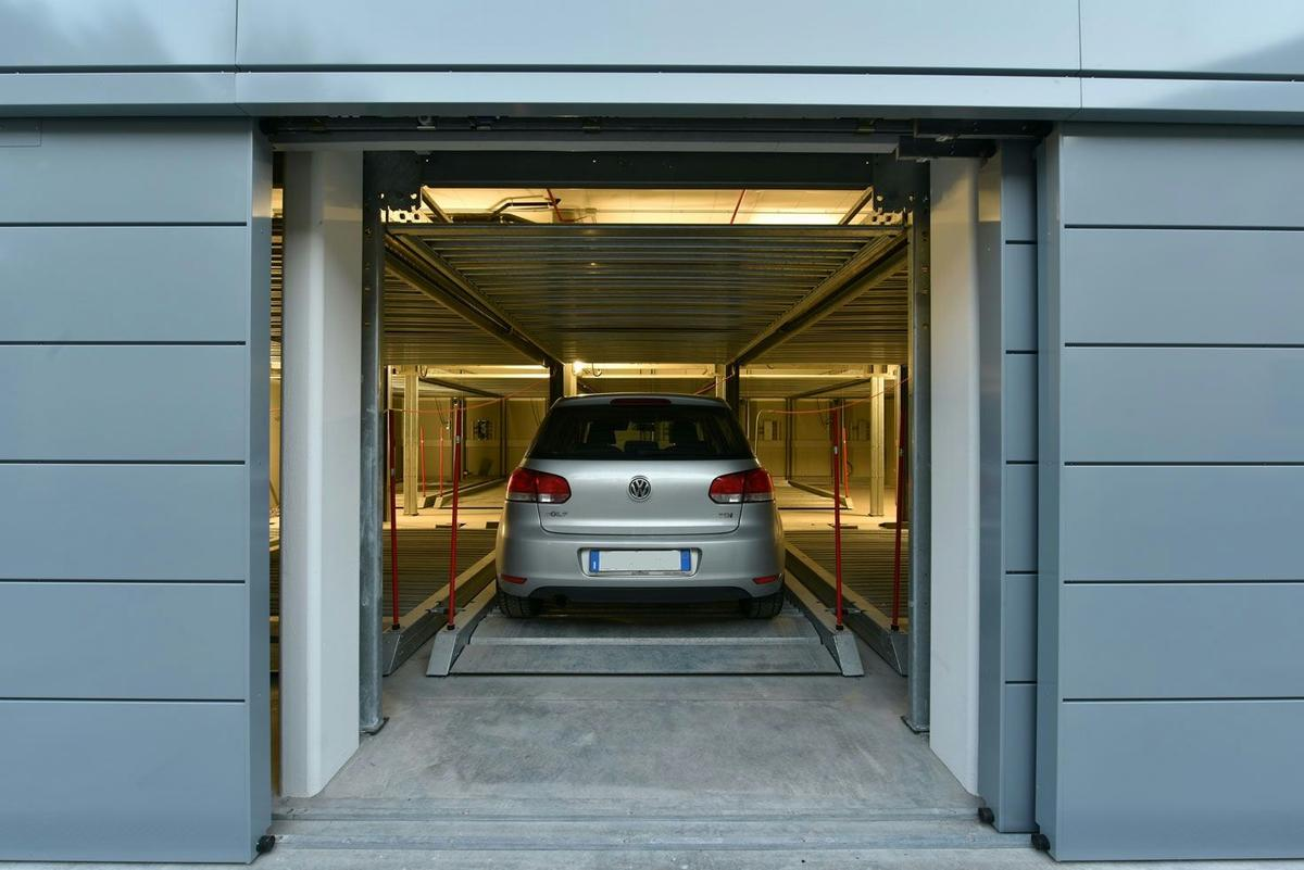 Parcheggi meccanici realizzati a Padova Modello Combilift 552