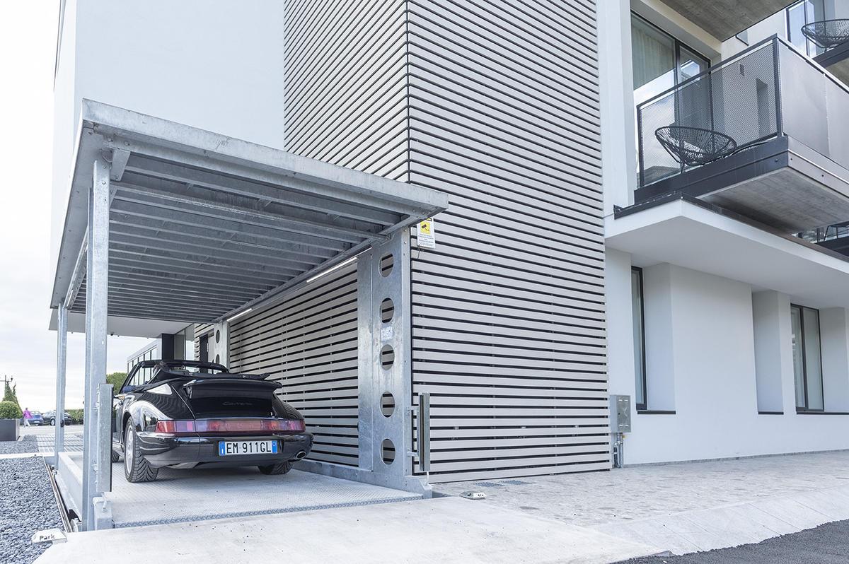 Ascensore per auto con tetto IP1-CM FF42