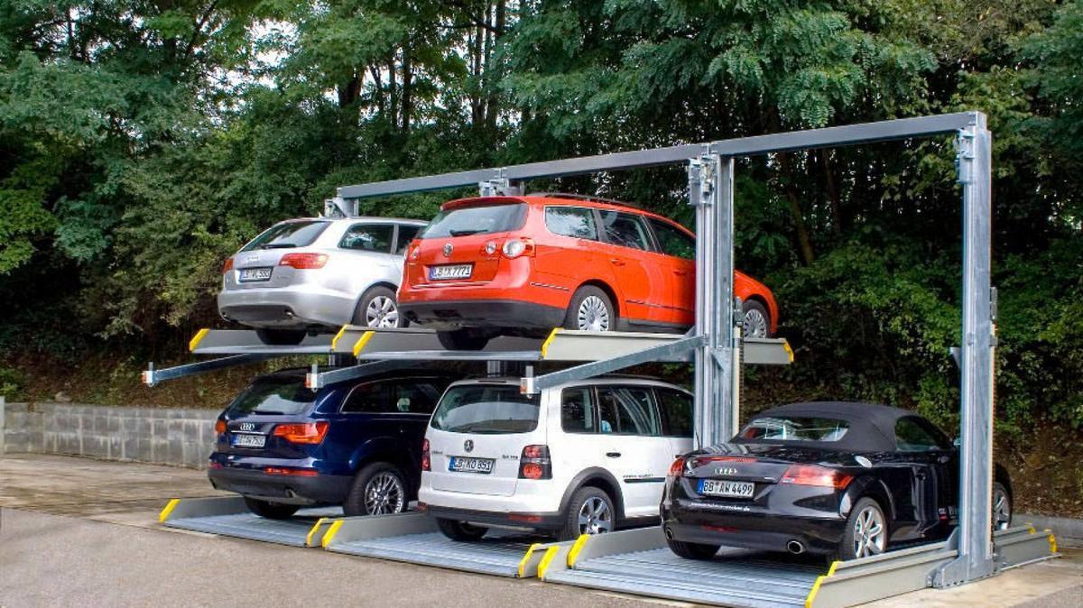 istema di parcheggio per 3 auto