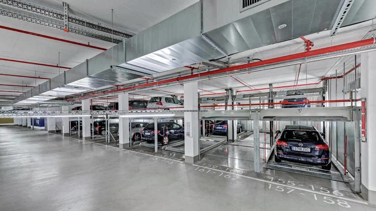 sistema di parcheggio semiautomatico combilift