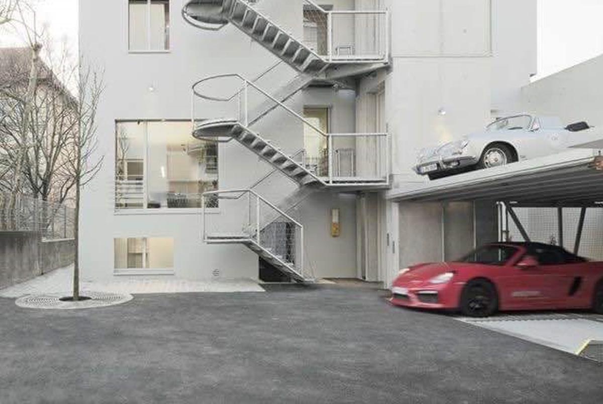 Parcheggio meccanico a scomparsa