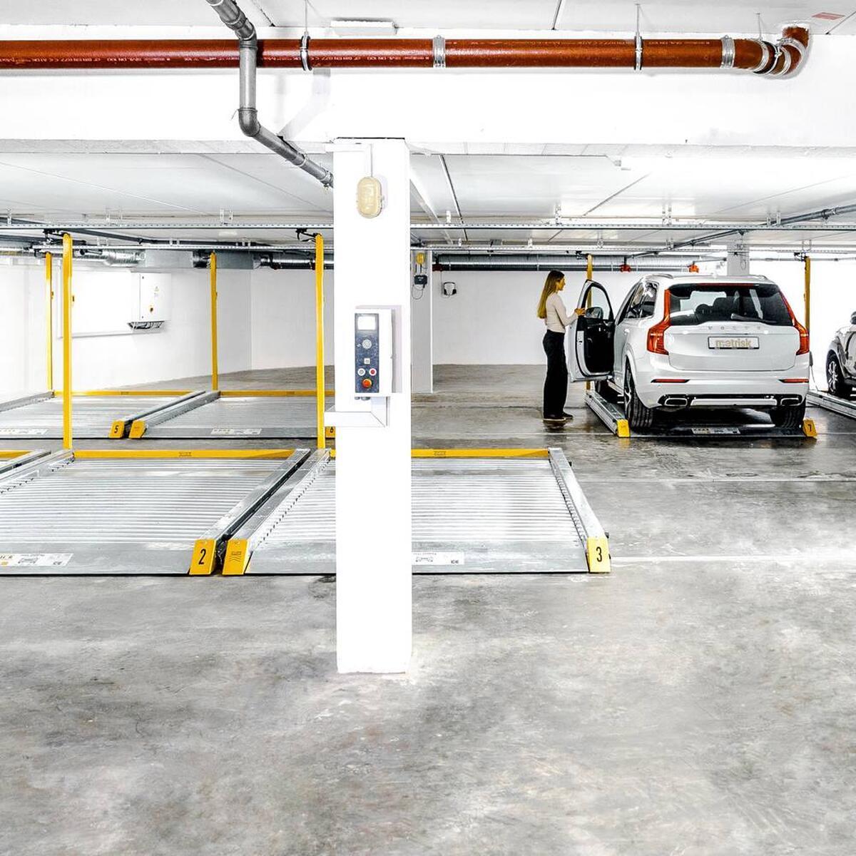piattaforma di parcheggio traslante