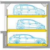 Combilift 543 - Ascensore per auto senza conducente a bordo