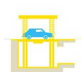 IP1- CM FF42 Ascensore per auto con tetto di copertura