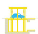 IP1-CM FB42 Ascensore per auto con tetto di copertura